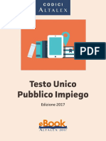 Testo Unico Pubblico Impiego MAGGIO 2017 PDF