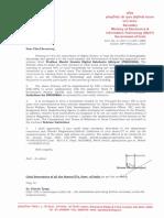 Letter to Chief Secretaries
