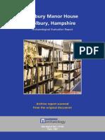 Holbury Manor House, Hampshire Evaluation