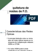 """02 Arquiteturas de Redes Ã""""Pticas"""