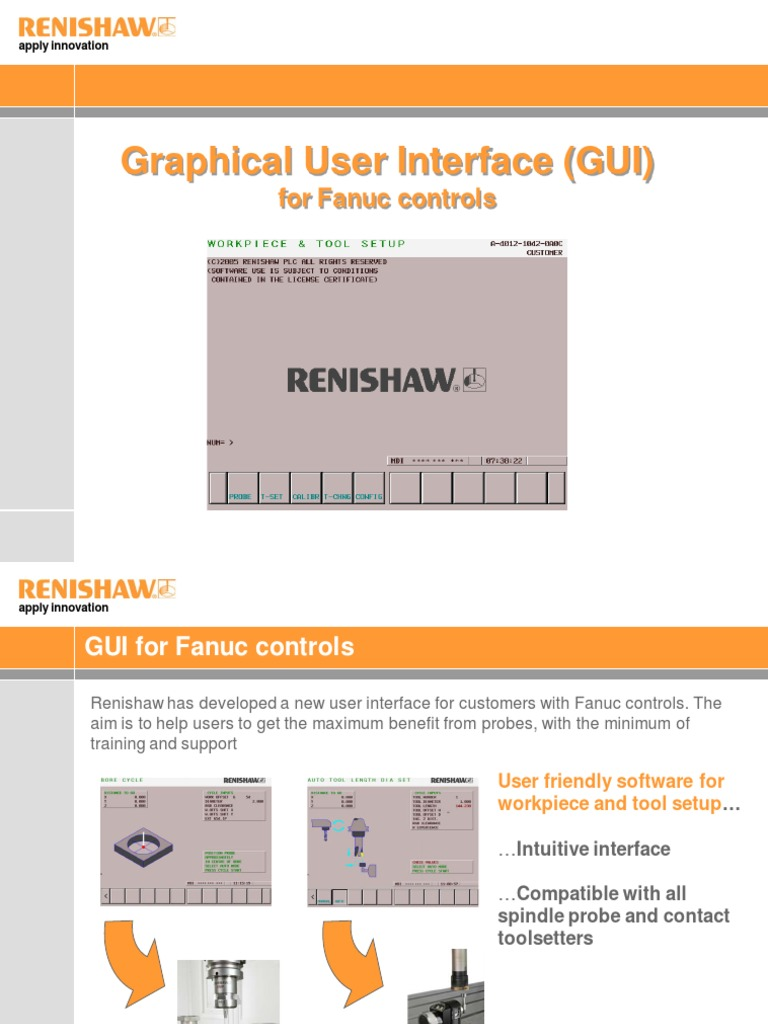 Feeler Renishaw Gui Presentation | Graphical User Interfaces