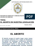 EL ABORTO EN NUESTRA LEGISLACION