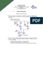 Guia Ejercicios Parte 3. Transistores BJT Universidad de Carabobo-Venezuela
