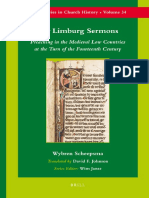 Wybren Scheepsma the Limburg Sermons Preaching in the Medieval Low Countries at the Turn of the Fourteenth Century Brills Series in Church History