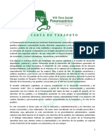 FOSPA - Carta de Tarapoto