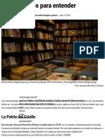 Los seis libros para entender Guatemala   Diario Digital