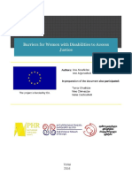 Barriers for Women with Disabilities to Access Justice