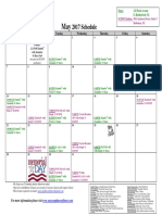 SCDNF May 2017 Schedule