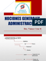 NOCIONES GENERALES  ADMINISTRACIÓN