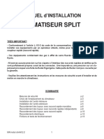 MANUEL d'INSTALLATION CLIMATISEUR SPLIT