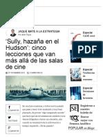 El Aterrizaje en El Río Hudson _ Jaque Mate a La Estrategia