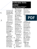 transferable skills checklist  2