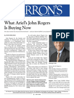 Current Investment Ideas From Ariel's John Rogers