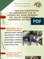 Analisis Cuantitativo y Cualitativo de Aguas Naturales Extraidas