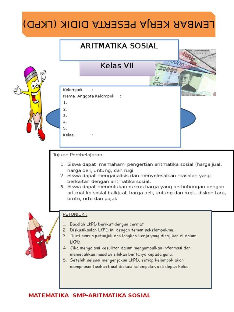 Contoh Soal Aritmatika Sosial Kelas 7 Kurikulum 2013 ...