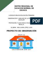Proyecto de observación
