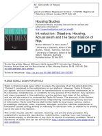 Introduction Disasters, Housing, Actuarialism and the Securitisation of Risk. Housing Studies 26.
