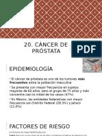20. Cáncer de Próstata