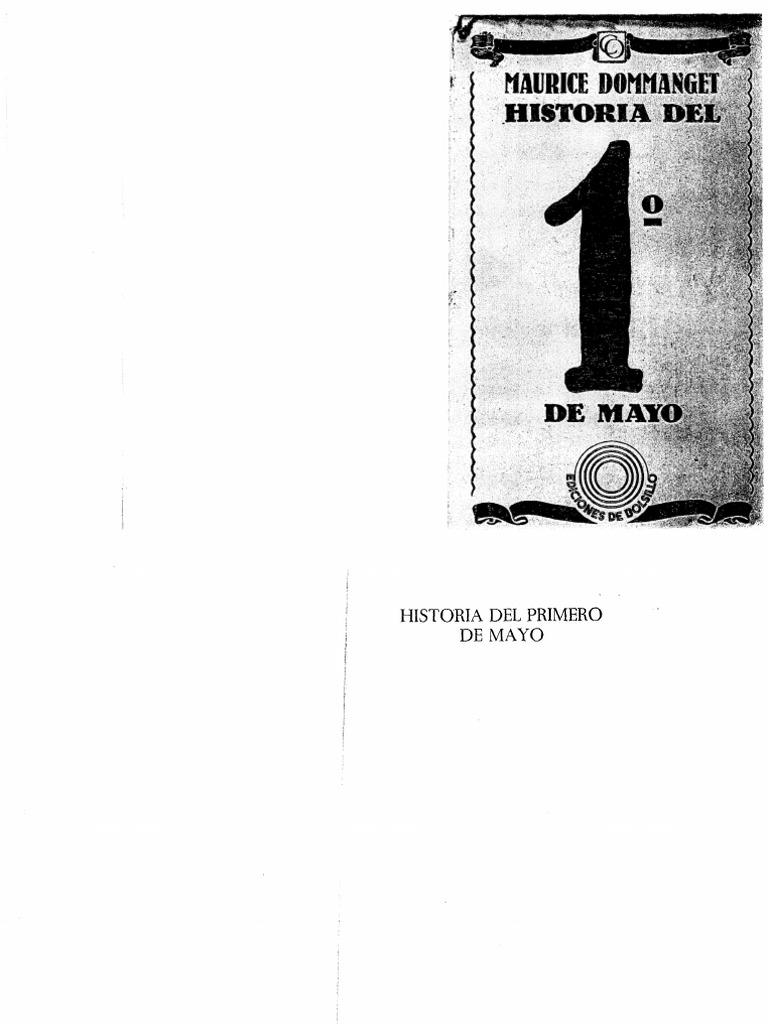 Maurice Dommanget, Historia Del 1º de Mayo
