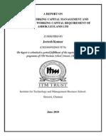 Working Capital Management (Ashok Leyland 2010-11) (Further Information contact jeetesh.s@itm.edu)