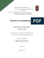Proyecto para las Practicas de Observación