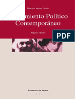 VELASCO CRIADO, Demetrio (Ed.) - Pensamiento Político Contemporáneo