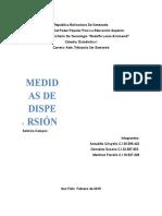 Medidas de Dispersión 3er Semestre Estadistica