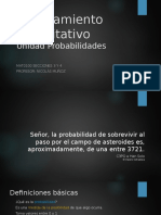 4. Unidad Probabilidades - Razonamiento Cuantitativo
