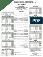 Selkirk School Calendar 2017-2018