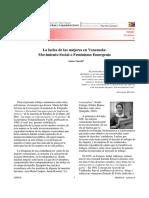 La Lucha de Las Mujeres en Venezuela