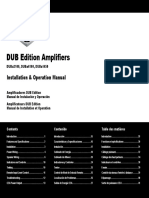 DUB Amp Duba2100 Installation and Operation Manual
