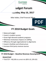 EMU Budget Forum Meeting May 2017