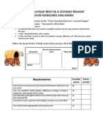 covered wagon poster rubric