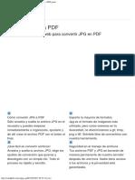 Convertir JPG a PDF - Convierte Online Tus Imágenes a PDF Gratis