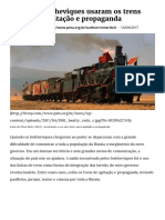 Como Os Bolcheviques Usaram Os Trens Para Fazer Agitação e Propaganda _ PSTU _ Partido Socialista Dos Trabalhadores Unificado