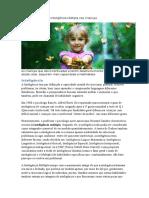 Desenvolvimento de Inteligência Múltipla Nas Crianças