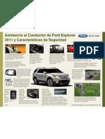 Asistencia al Conductor de Ford Explorer 2011 y Características de Seguridad