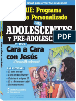 Cara a Cara Con Jesús_Adolescentes_Lecciones