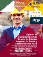 01.- Diplomado Internacional en Alta Gerencia de Sistemas Integrados de Gestion y Auditor Interno HSEQ
