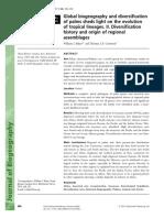 Biogeography Diversification Palms Origin