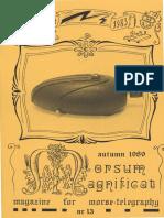 Morsum Magnificat, The Original Morse Magazine-MM13