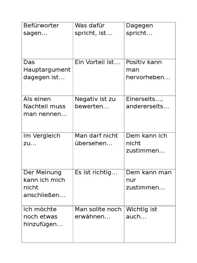 dialektische erörterung text
