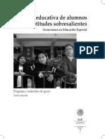 LEE -2004. Atención educativa de alumnos con Aptitudes Sobresalientes. Antología