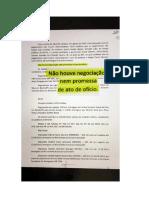 Documento da delação de Ricardo Saud