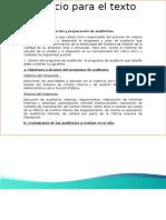 Planificacion y Preparacion de Auditorias
