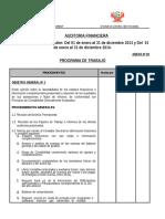 Programa de Auditoria Estados Financieros