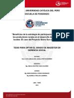 Del Aguila Portocarrero Elsa Beneficios Chivay