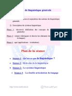 Notions de Linguistique Générale (Fr)