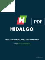 Ley de Control Vehicular Para El Estado de Hidalgo