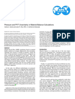 SPE-107907-MS. Pressure and PVT Uncertainty in Materia Balance Calculations